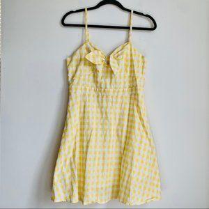 Yellow Gingham Dress